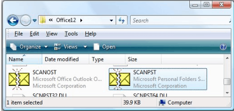 outlook 2007 search not working windows 8.1