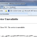 HTTP IIS7 Error 503: The Service Is Unavailable