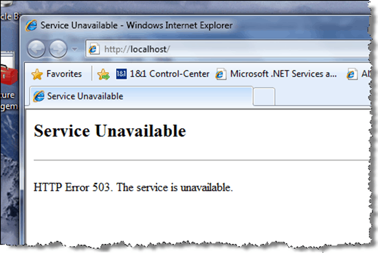 HTTP IIS7 Error 503: The Service Is Unavailable - The Error Code Pros