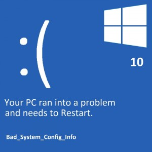 How to Fix Bad_System_Config_Info in Windows 7, 8, 10