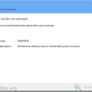 Fixed! Error Codes 0x8007232b & 0x8007007B On Windows