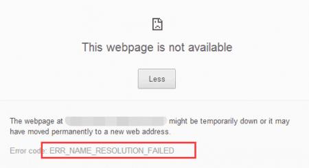 SOLVED] ERR_NAME_RESOLUTION_FAILED Error in Chrome - The