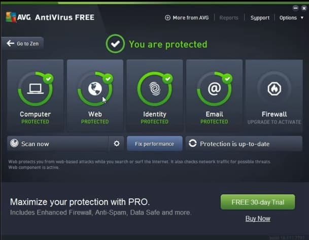 how to remove avg antivirus