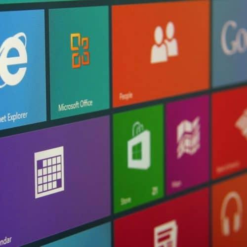 microsoft windows start screen