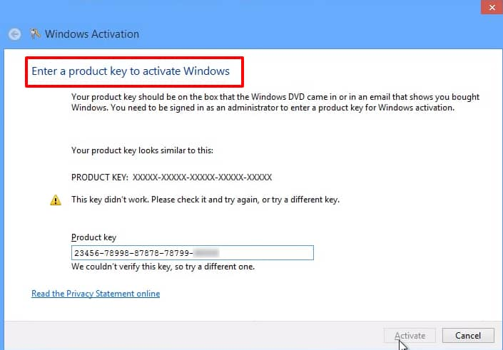 windows 8 key activation example