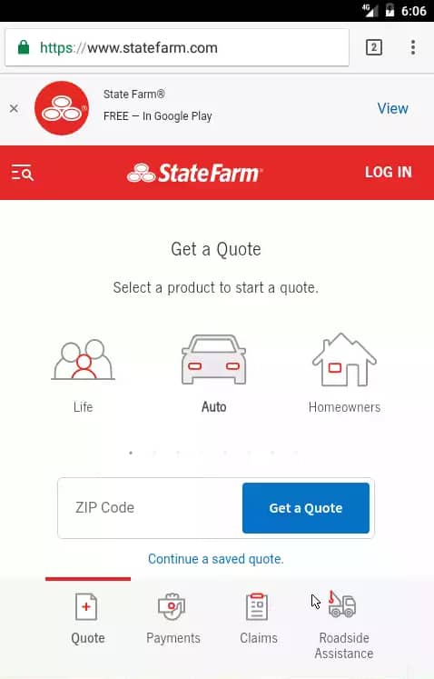 state farm mobile login guide