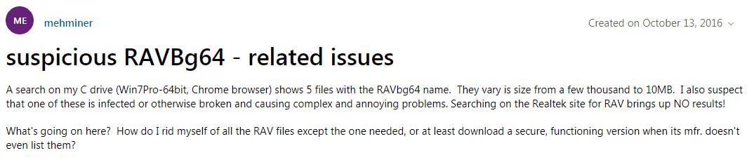 4 Fixes For Common RAVBg64.Exe Errors