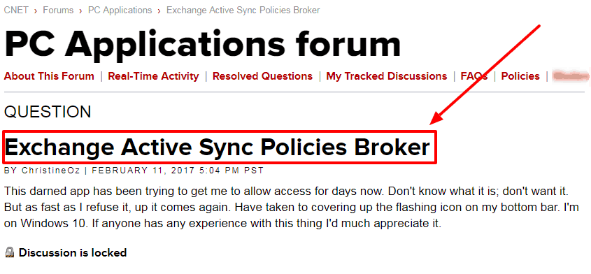Fixing Exchange Active Sync Policies Broker