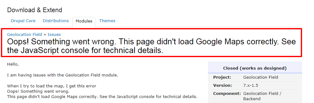 Oops Something went wrong This page didn t load Google Maps correctly See the JavaScript console for technical details