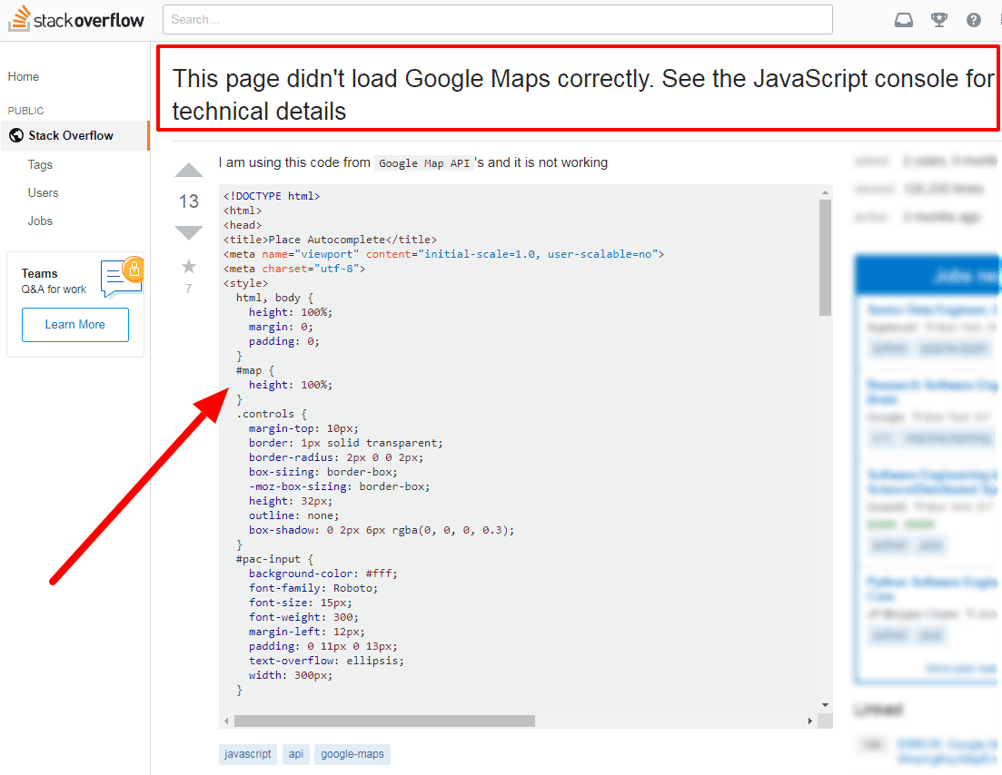 This page didn t load Google Maps correctly See the JavaScript console for technical details