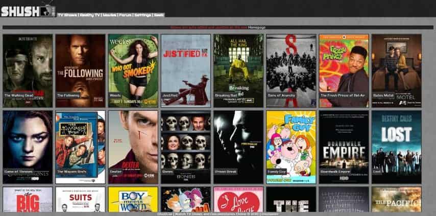 shush.se as a 123 movies alternative