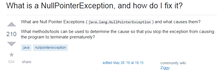 What is a NullPointerException and how do I fix it