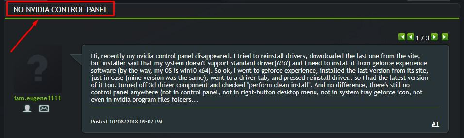 geforce drivers - no nvidia control panel
