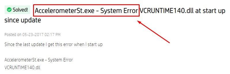 AccelerometerSt.exe - System Error